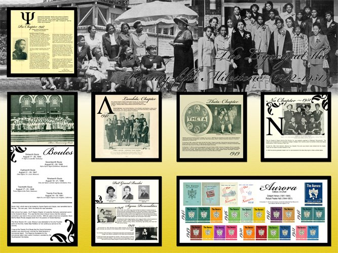 Historical Timeline Display at the International Corporate Headquarters  - Decade 3