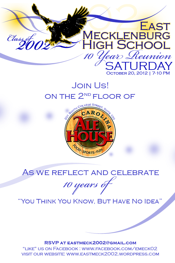 East Mecklenburg Class of 2002 Electronic Reunion Invitation