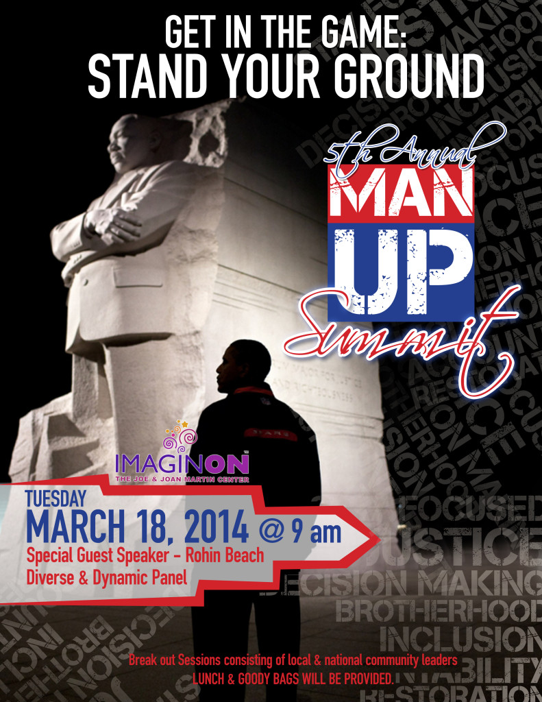 Our second time creating the face of Man Up Summit. Same cause, fresh design.